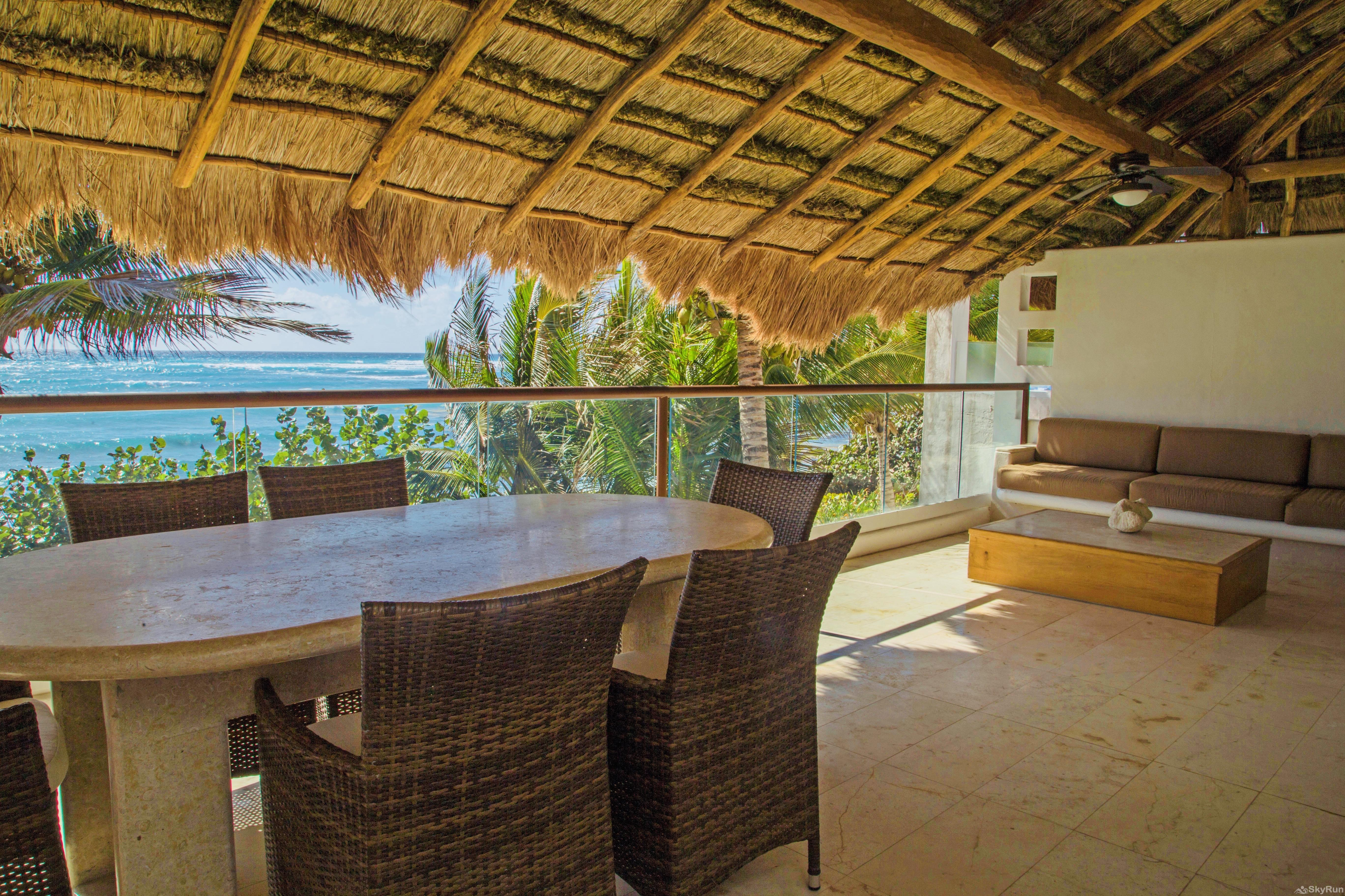 Luxurious Beachfront in Private Location 312 3 Bedroom 2nd Floor Condo at Villas Akumal