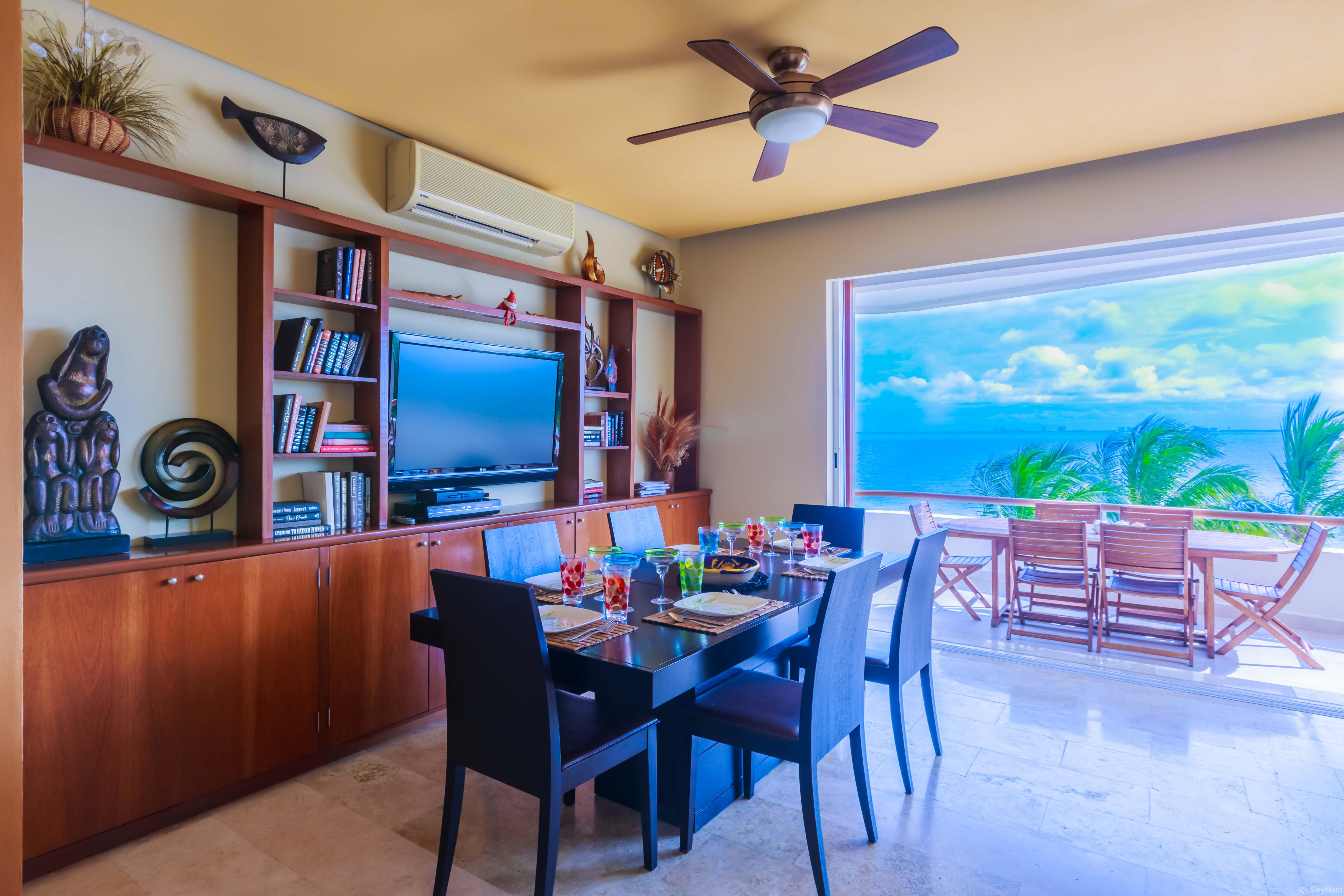 Coral Three Bedroom Oceanfront Residence Admire the beautiful and original art and décor that adorns the walls, shelves and tables at this corner unit
