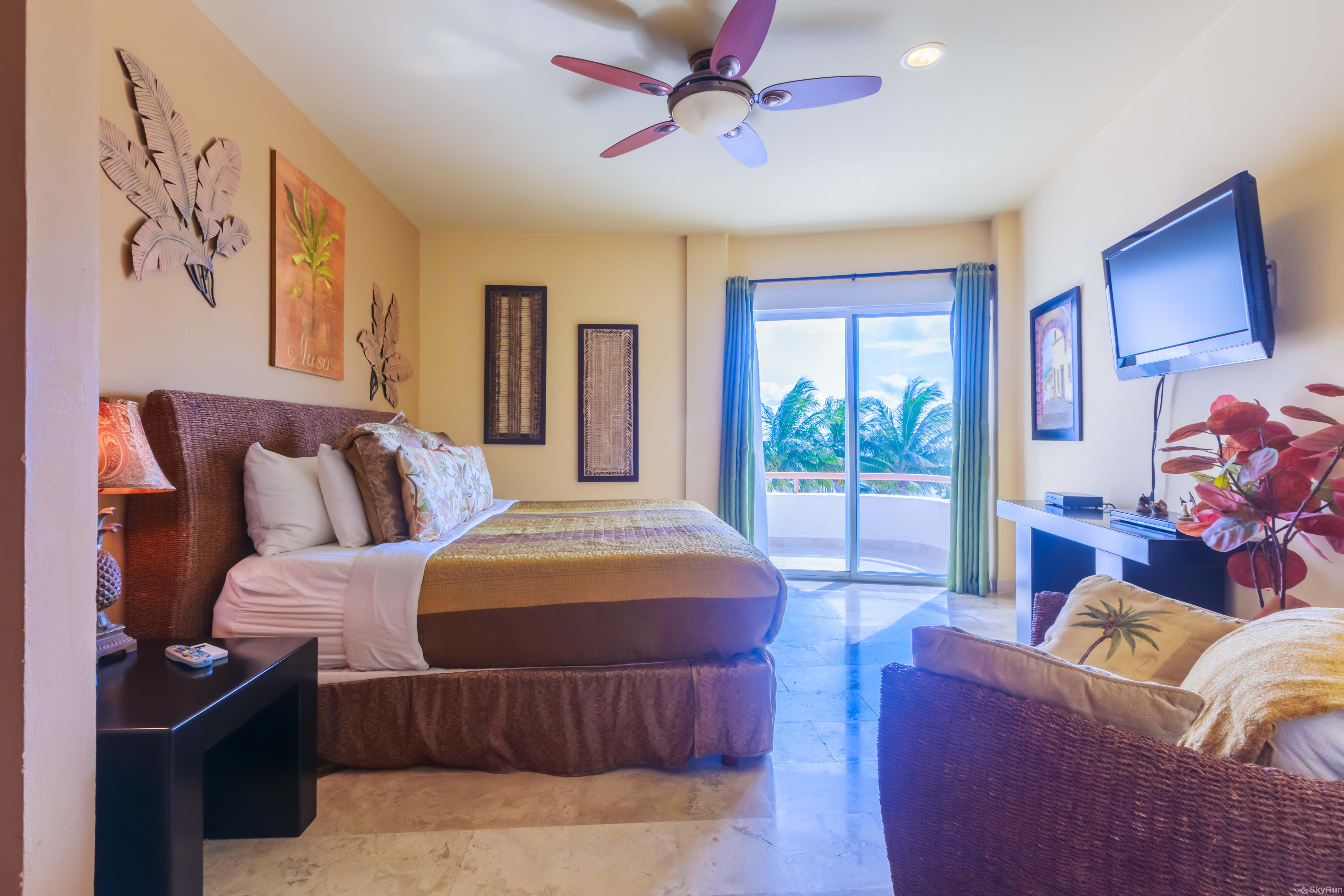 Coral Three Bedroom Oceanfront Residence Comfortable Master Bedroom with own private balcony